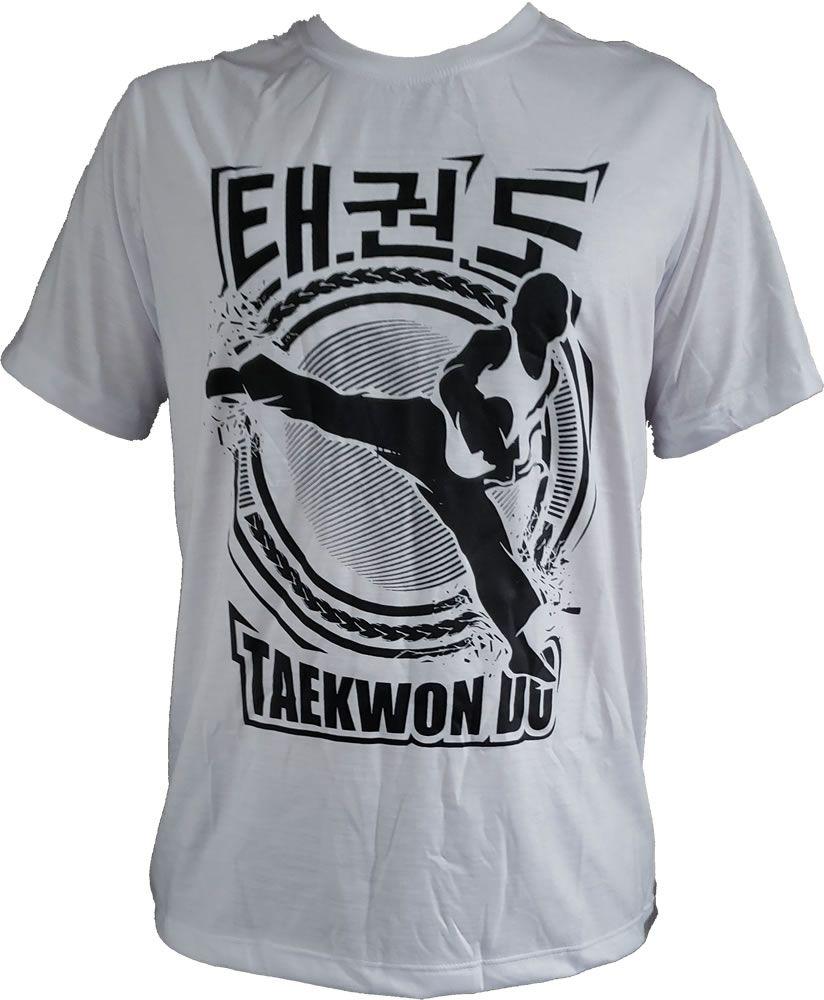 Camisa Camiseta Taekwondo Tit Tcha Gi - Branca - Duelo Fight
