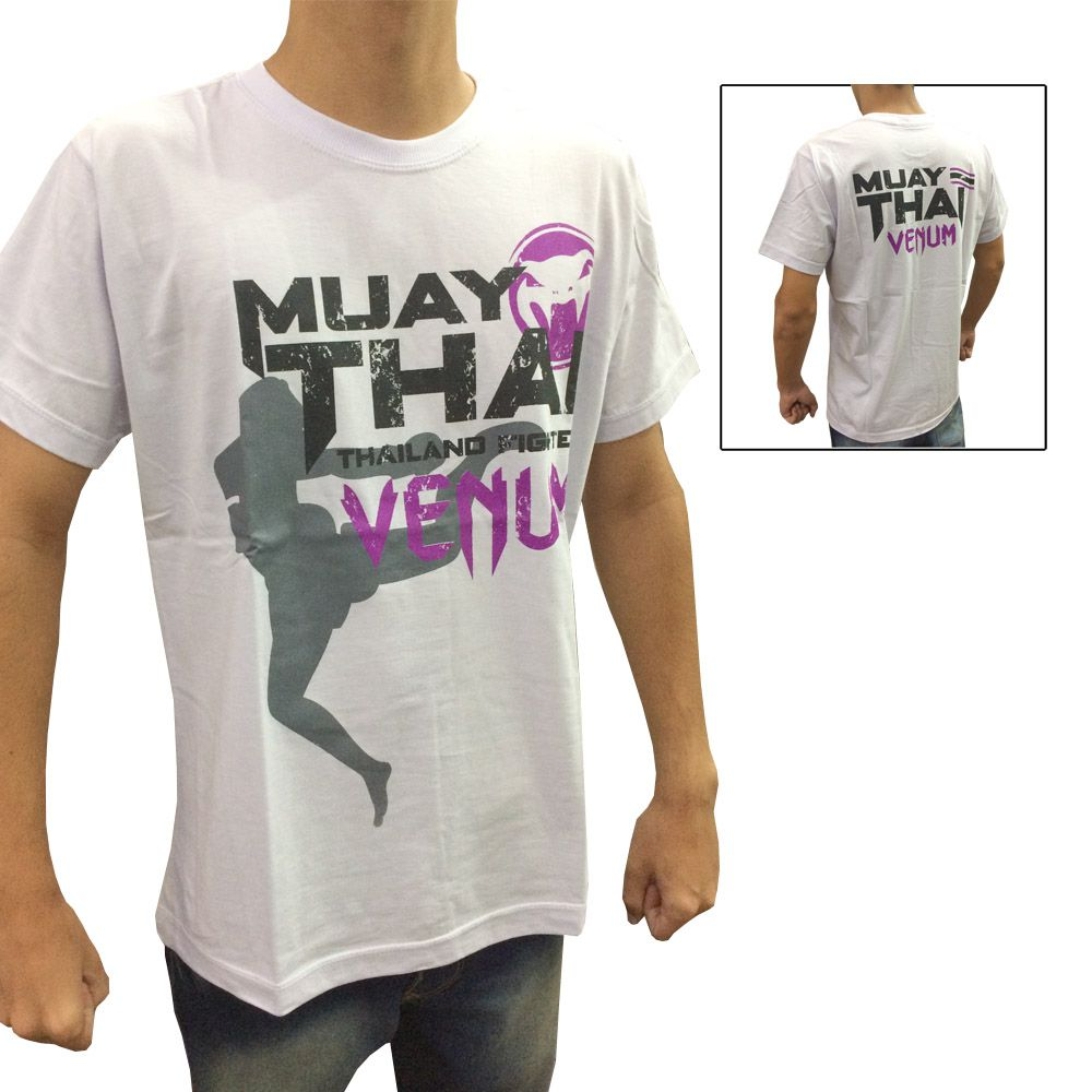 Camisa Camiseta - Thailand Fight - Branco - Venum -