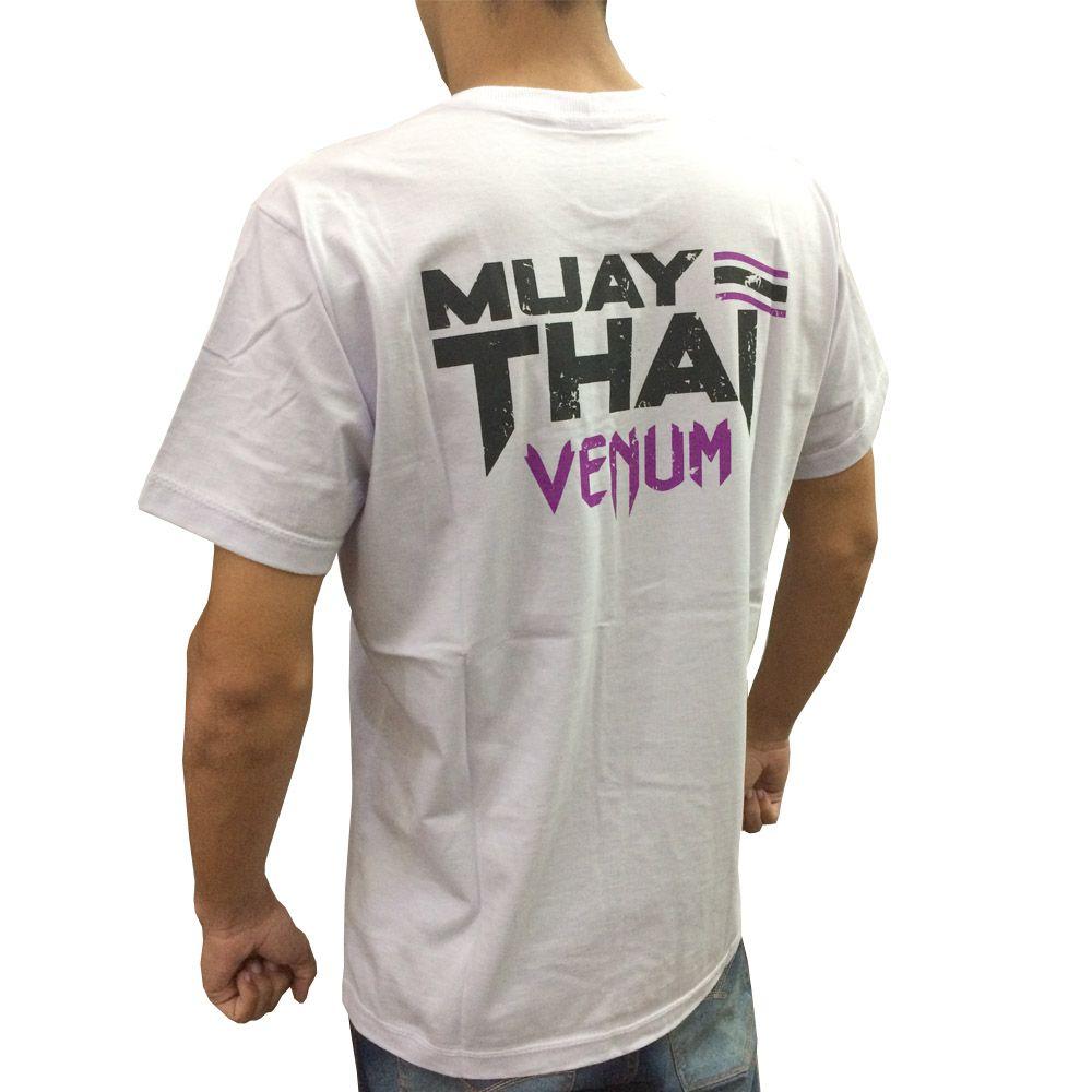 Camisa/Camiseta - Thailand Fight - Branco - Venum .  - Loja do Competidor