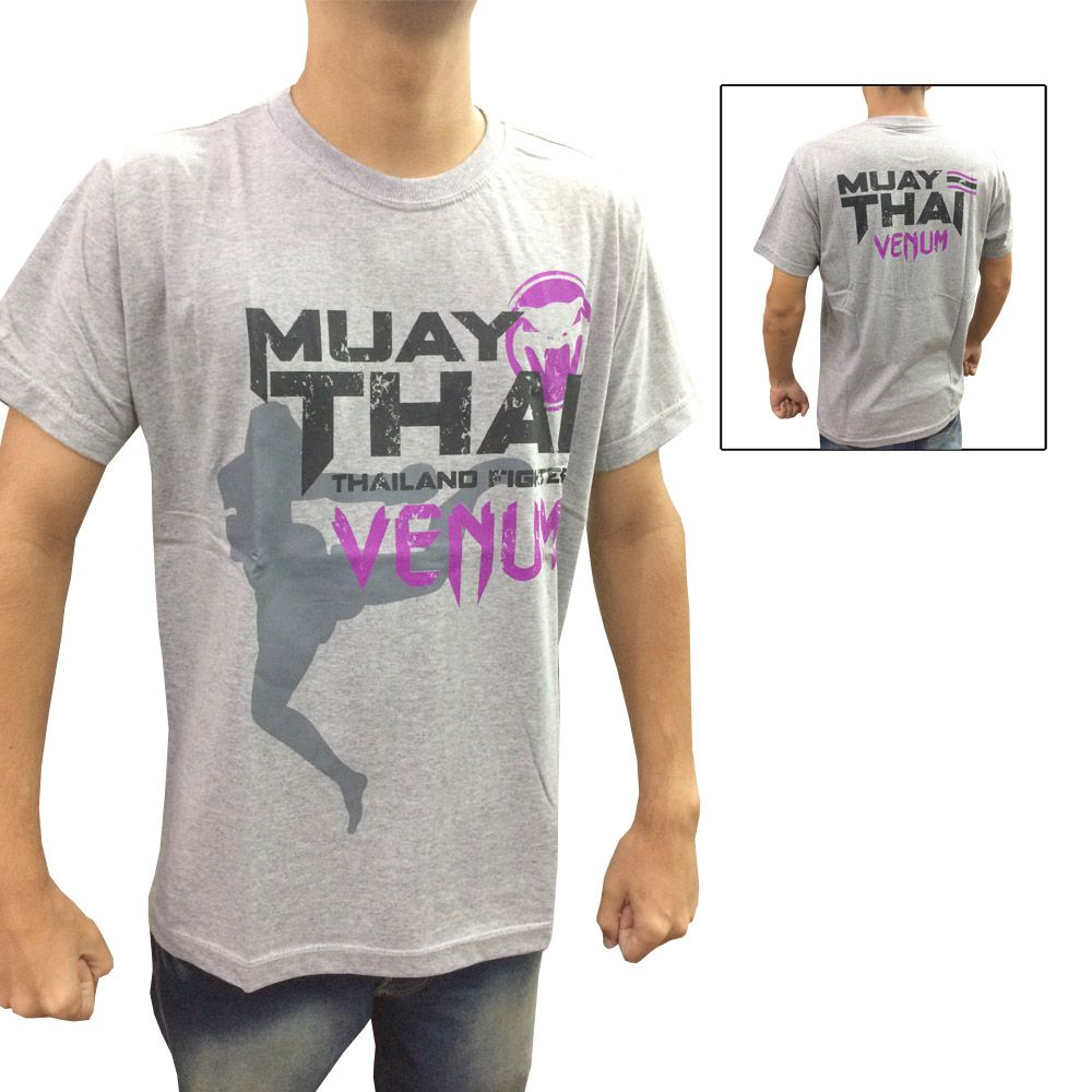 Camisa/Camiseta - Thailand Fight - Cinza - Venum .  - Loja do Competidor