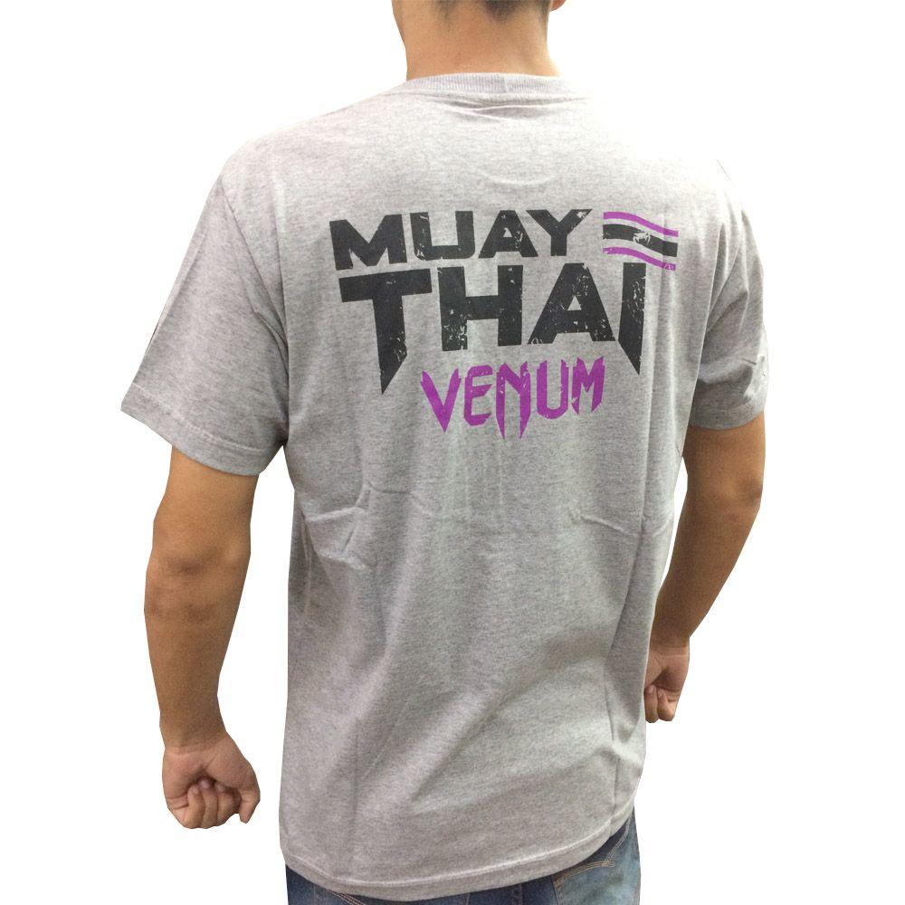 Camisa Camiseta - Thailand Fight - Cinza - Venum  - Loja do Competidor