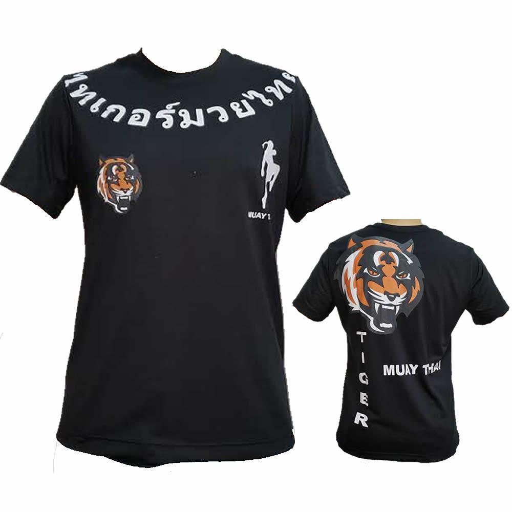 Camisa Camiseta Thailand Tiger Muay Thai - Preta
