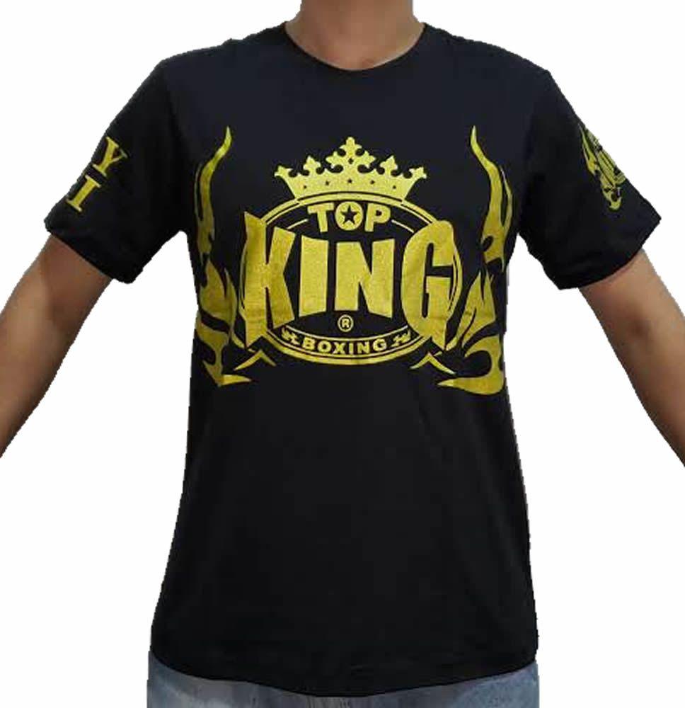 Camisa Camiseta Top King Style Muay Thai - Preta