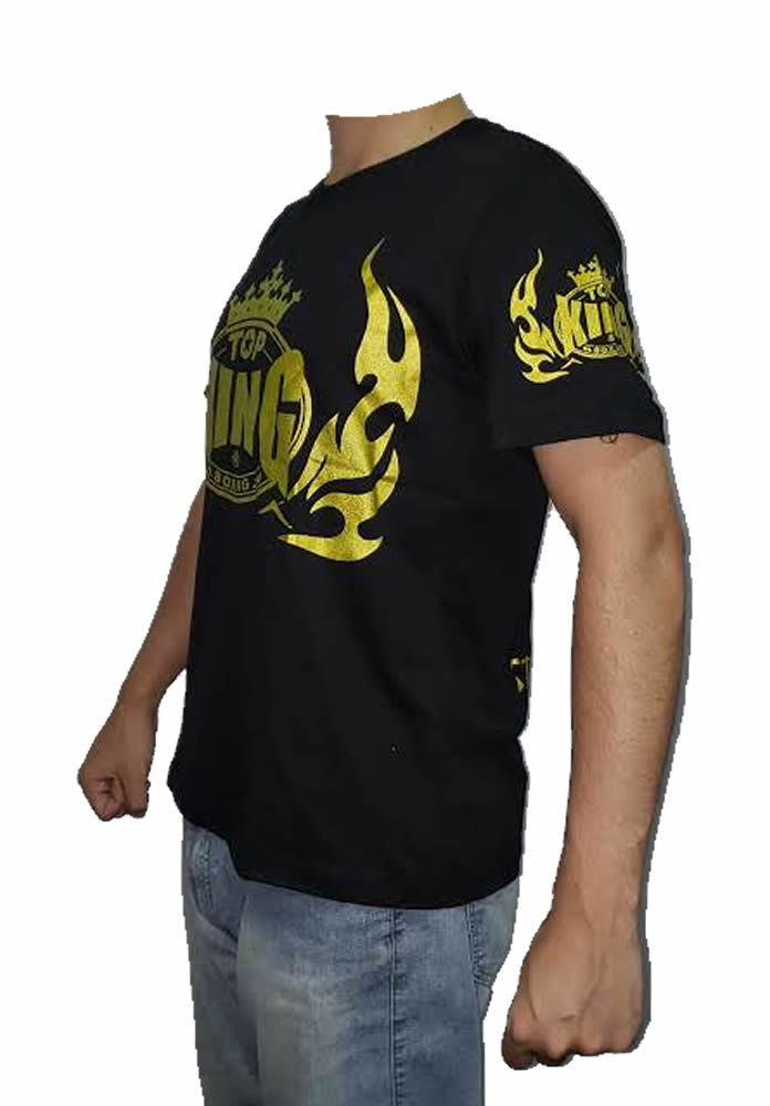 Camisa Camiseta Top King Style Muay Thai - Preta  - Loja do Competidor