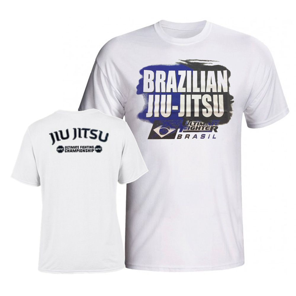 Camisa Camiseta TUF Brazilian Jiu Jitsu - Branca - UFC -