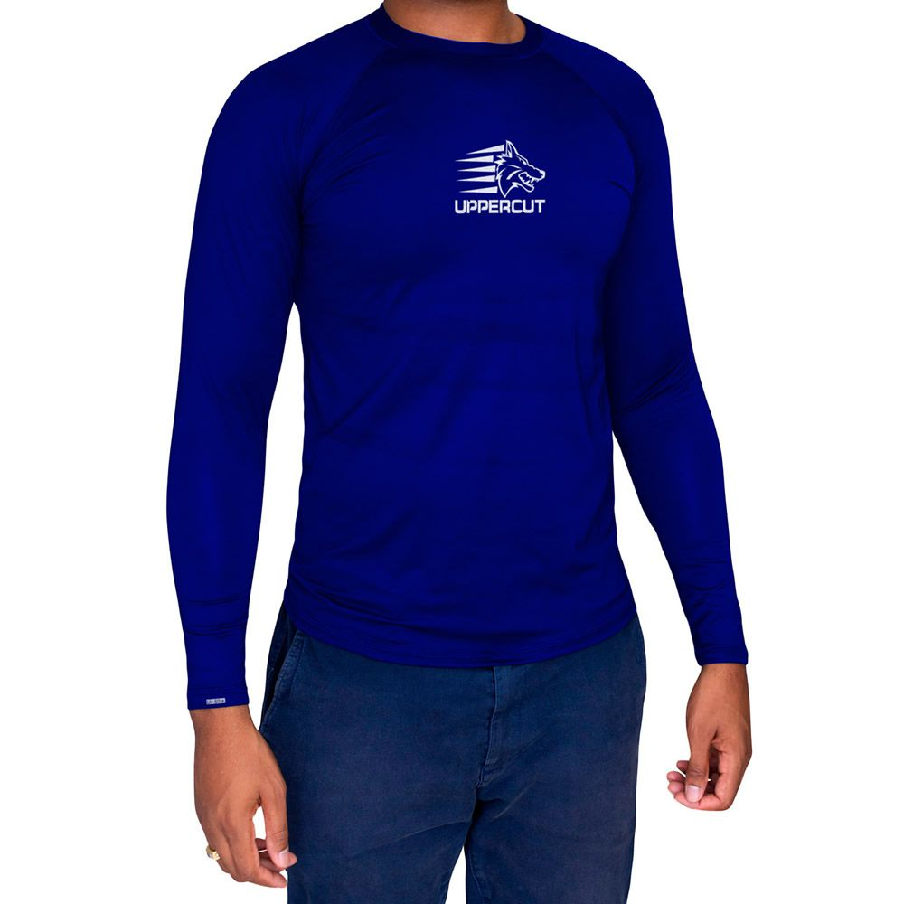 Camisa de Proteção Solar Manga Longa - UV-50+ Praia e Piscina - Azul