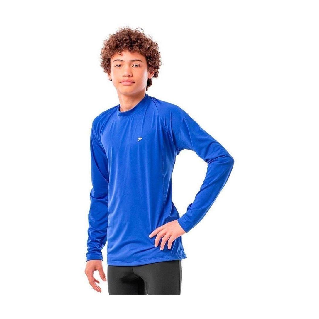 Camisa de Proteção Solar Manga Longa - UV-50+ Praia e Piscina - Azul - Infantil
