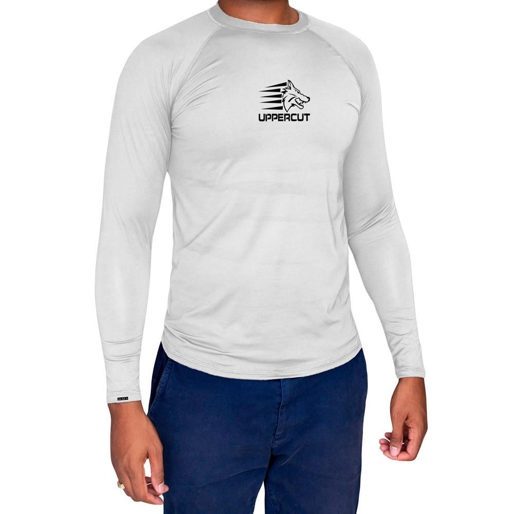 Camisa de Proteção Solar Manga Longa - UV-50+ Praia e Piscina - Branca  - Loja do Competidor