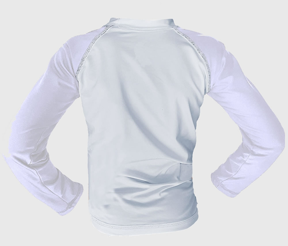 Camisa de Proteção Solar Manga Longa - UV-50+ Praia e Piscina - Infantil  - Loja do Competidor