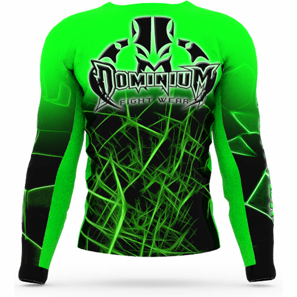 Camisa Rash Guard Compressao Jiu Jitsu ML - Neon Verde