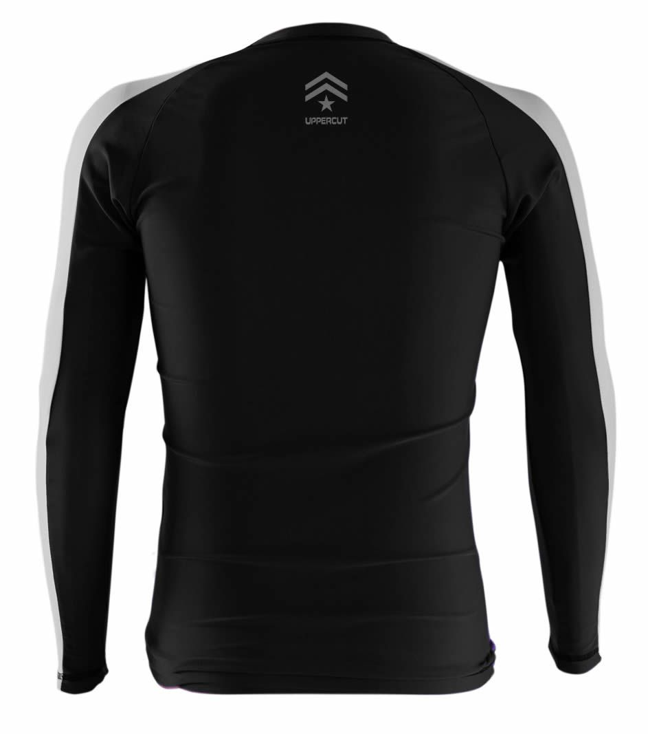 Camisa Rash Guard Jiu JItsu R-12 - Preto/Branco - Uppercut - Loja do Competidor