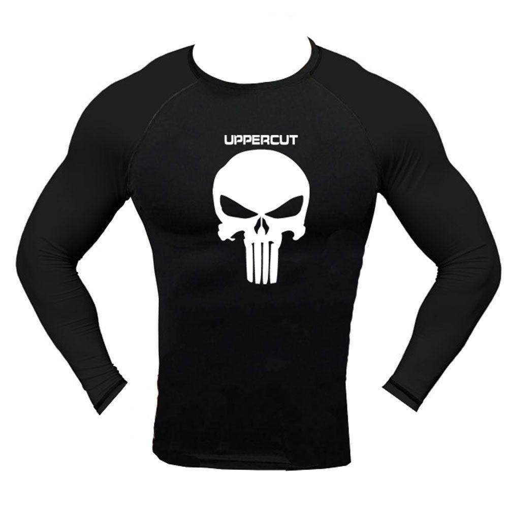 Camisa Rash Guard - Justiceiro - Lisa - Preto - Manga Longa - Uppercut -  - Loja do Competidor