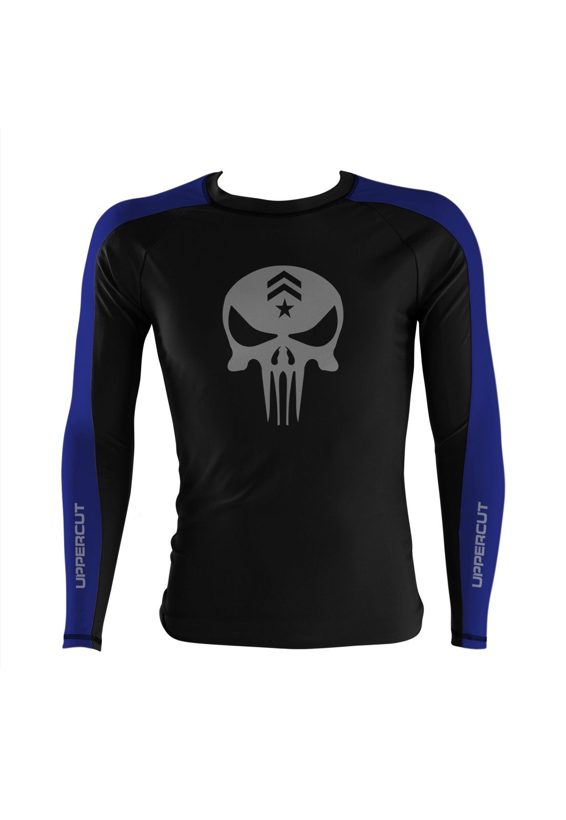 Camisa Rash Guard Justiceiro War R-3 - Preto/Azul - Uppercut