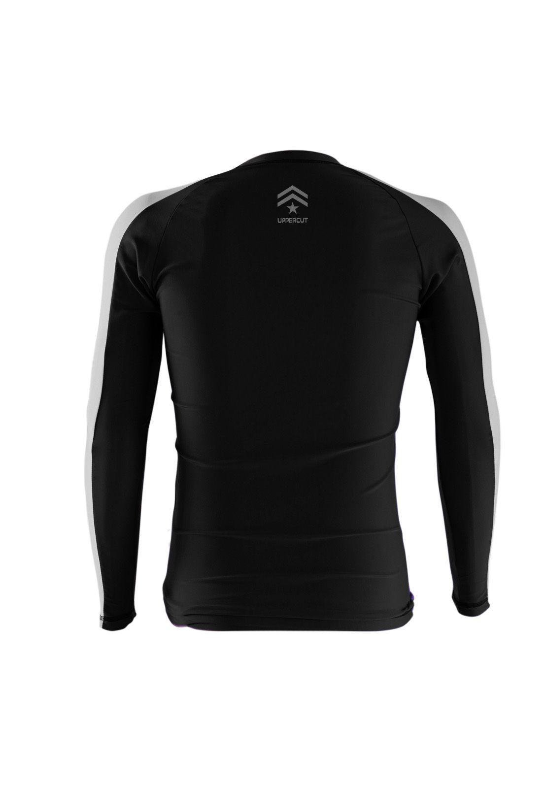 Camisa Rash Guard Justiceiro War R-1 - Preto/Branca - Uppercut  - Loja do Competidor