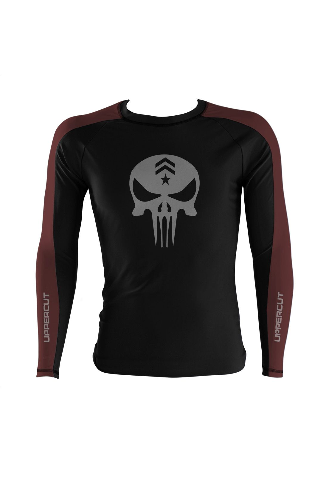 Camisa Rash Guard Justiceiro War R-4 - Preto/Marron - Uppercut