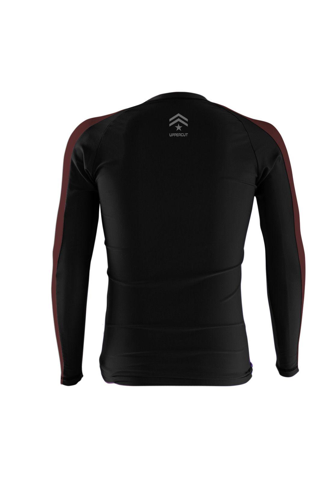 Camisa Rash Guard Justiceiro War R-4 - Preto/Marron - Uppercut  - Loja do Competidor