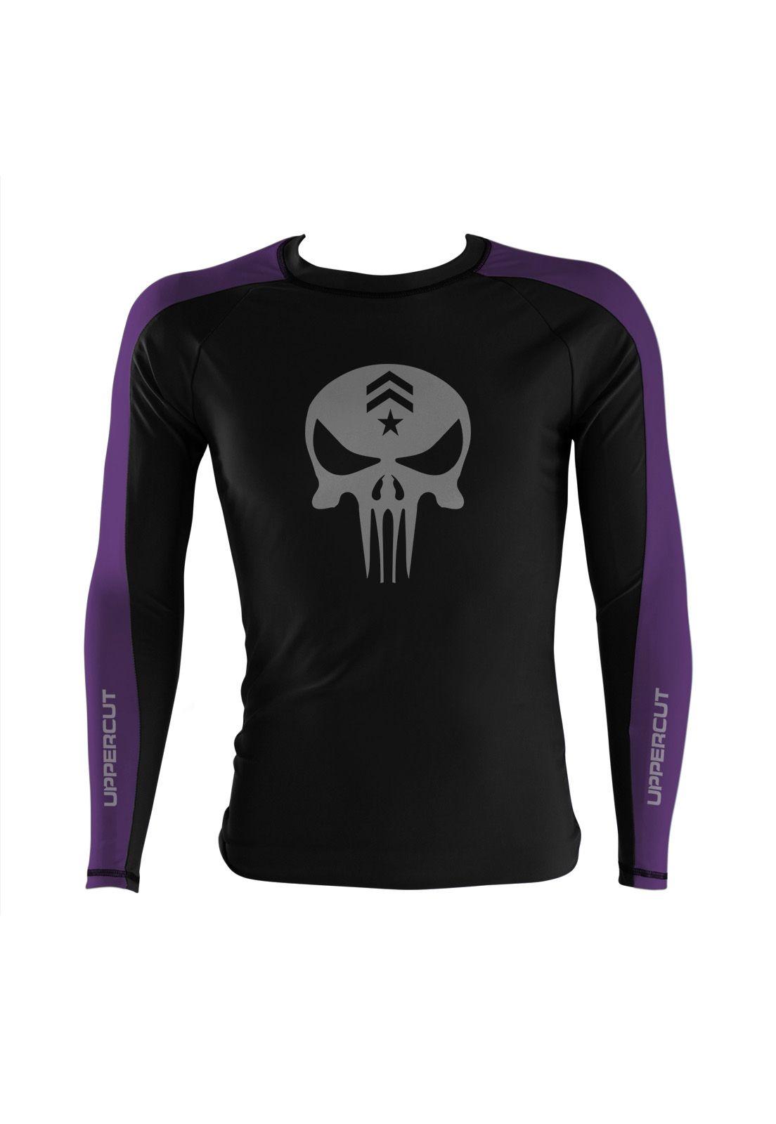 Camisa Rash Guard Justiceiro War R-3 - Preto/Roxa - Uppercut