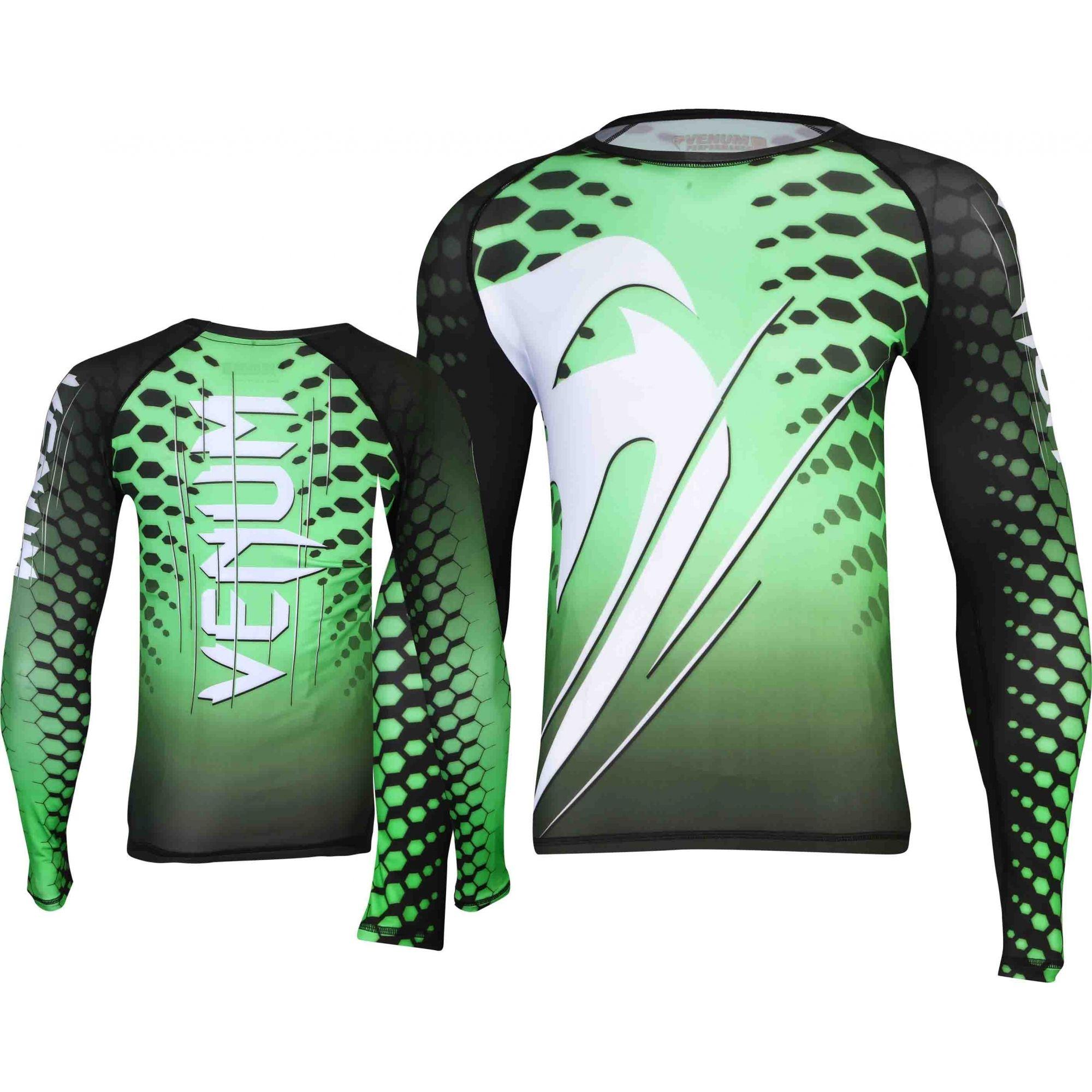 Camisa Rash Guard/ Lycra-  Amazônia Brasil - Manga Longa - Verde- Venum -