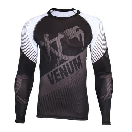 Camisa Rash Guard/ Lycra- Attack- Manga Longa - Preto/Cinza-  Venum  - Loja do Competidor