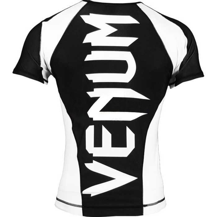 Camisa Rash Guard/ Lycra-  Giant - Manga Curta- Preto/Branco-  Venum  - Loja do Competidor