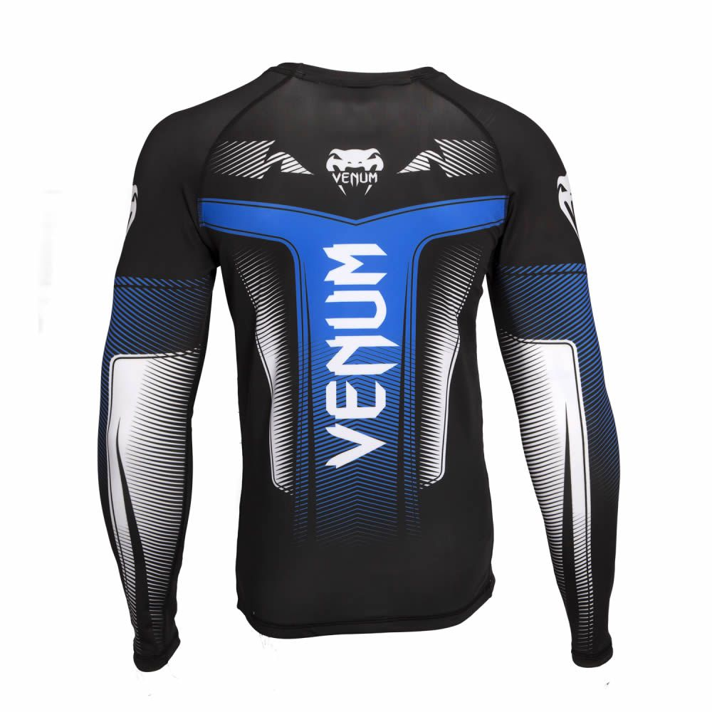 Camisa Rash Guard Lycra Manga Longa 3.0 - Azul - Venum  - Loja do Competidor
