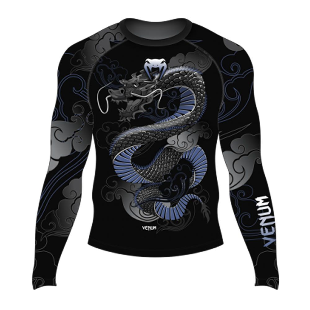Camisa Rash Guard Lycra Manga Longa - Dragon Force Navy - Venum