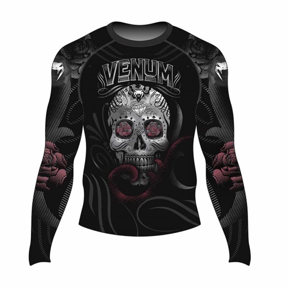 Camisa Rash Guard Lycra Manga Longa - Skull and Roses - Venum
