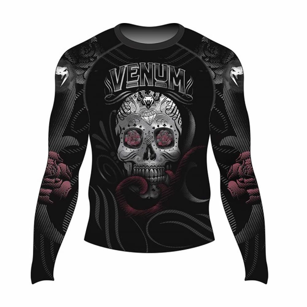 Camisa Rash Guard Lycra Manga Longa - Skull and Roses - Venum  - Loja do Competidor