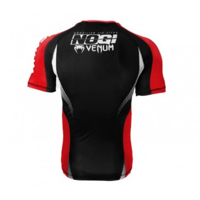 Camisa Rash Guard/ Lycra-  No Gi IBJJF Approved - Manga Curta- Preto/Vermelho-  Venum  - Loja do Competidor