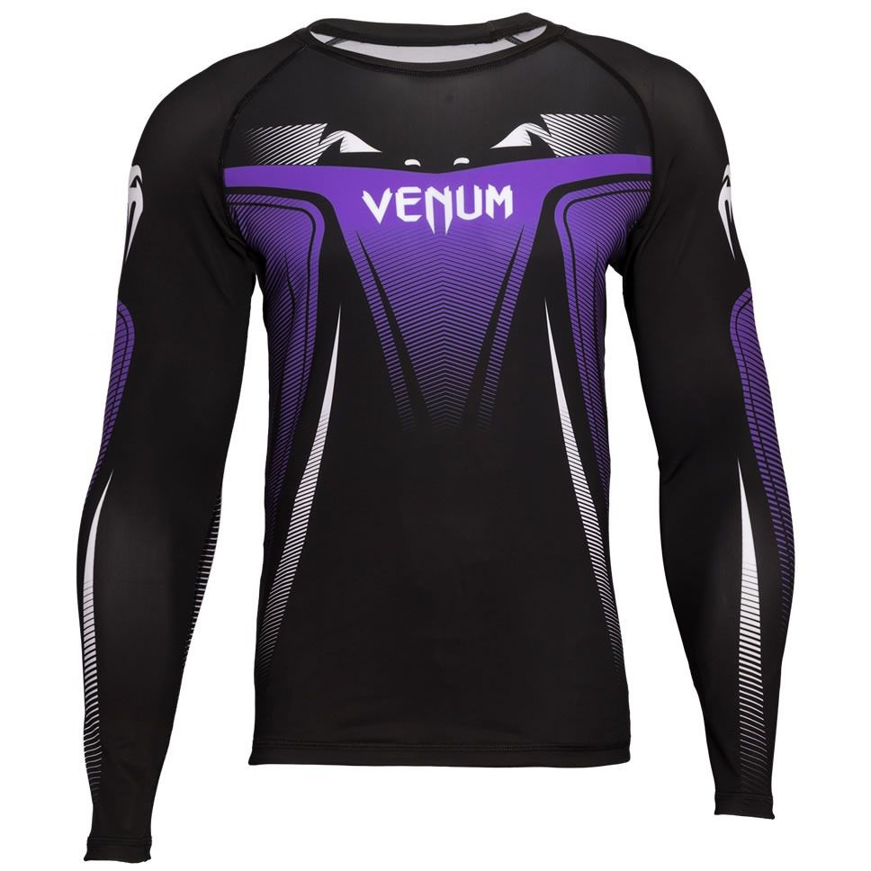 Camisa Rash Guard Lycra Manga Longa 3.0 - Roxa - Venum