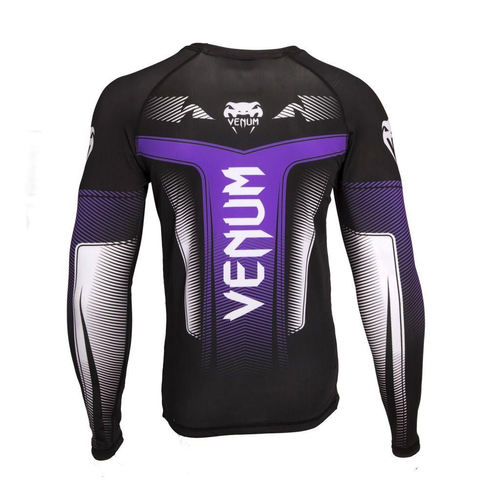 Camisa Rash Guard Lycra Manga Longa 3.0 - Roxa - Venum  - Loja do Competidor