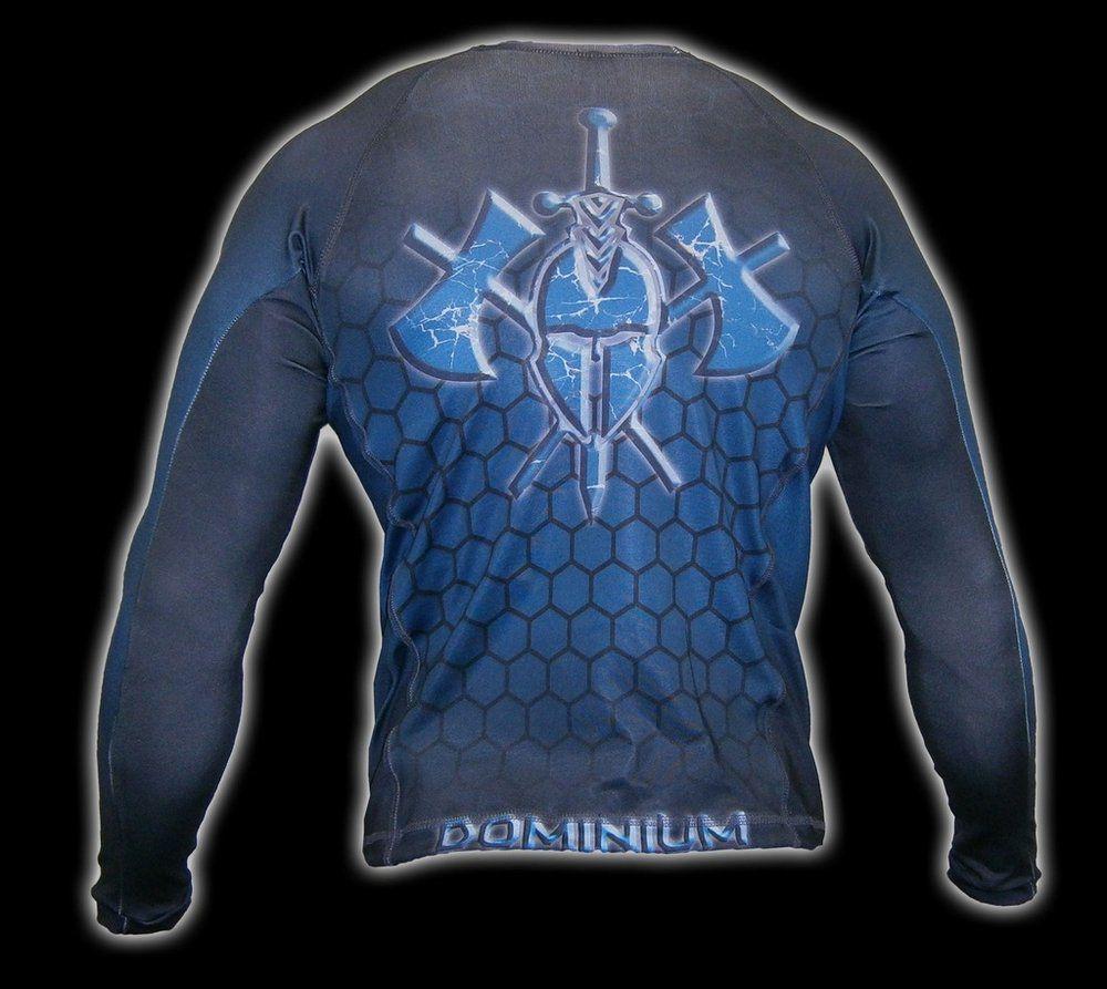 Camisa Rash Guard - Manga Longa - Azul - 2199AZ - Dominium .  - Loja do Competidor
