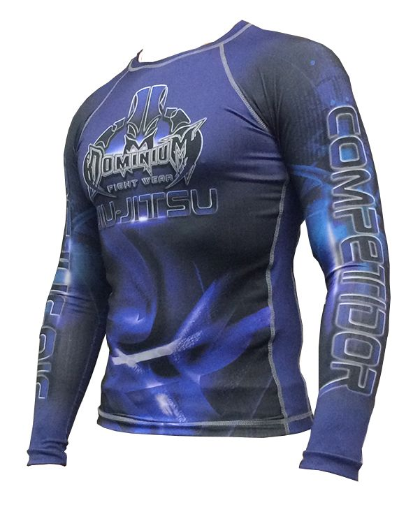 Camisa Rash Guard - Manga Longa - Azul - 2739- Dominium
