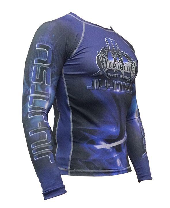 Camisa Rash Guard - Manga Longa - Azul - 2739- Dominium  - Loja do Competidor