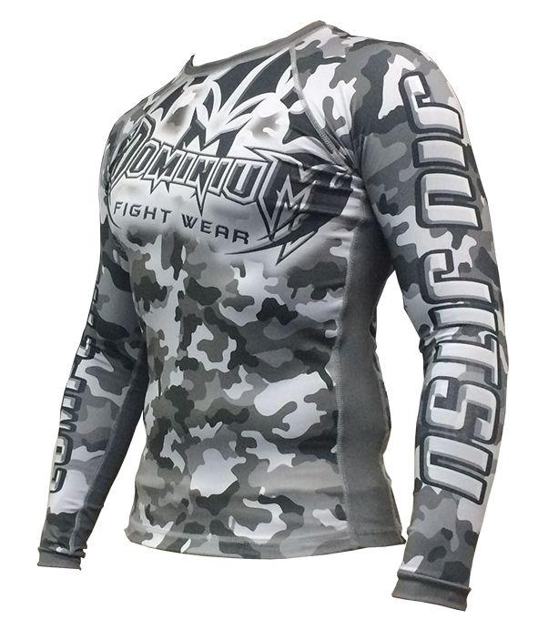 Camisa Rash Guard - Manga Longa - Camuflado Urbano - 2810U - Dominium
