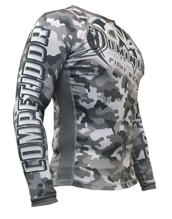 Camisa Rash Guard - Manga Longa - Camuflado Urbano - 2810U - Dominium  - Loja do Competidor
