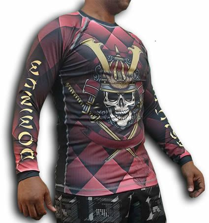 Camisa Rash Guard Manga Longa - Guerreiro Samurai - Dominium