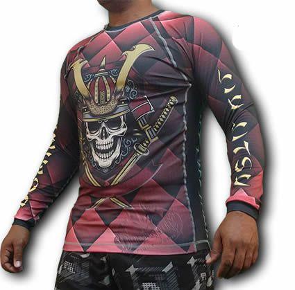 Camisa Rash Guard Manga Longa - Guerreiro Samurai - Dominium  - Loja do Competidor