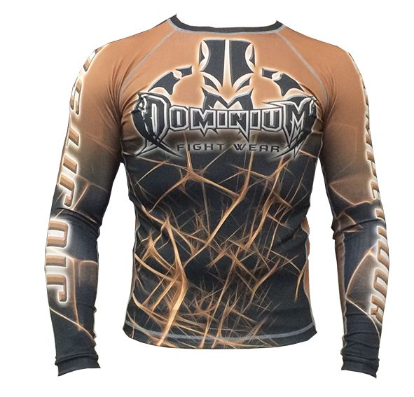 Camisa Rash Guard - Manga Longa - Marrom - Dominium