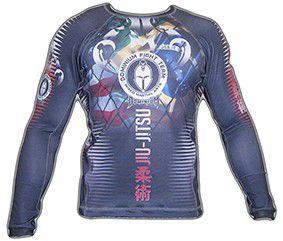 Camisa Rash Guard - Manga Longa - Preto- 2201P- Dominium .