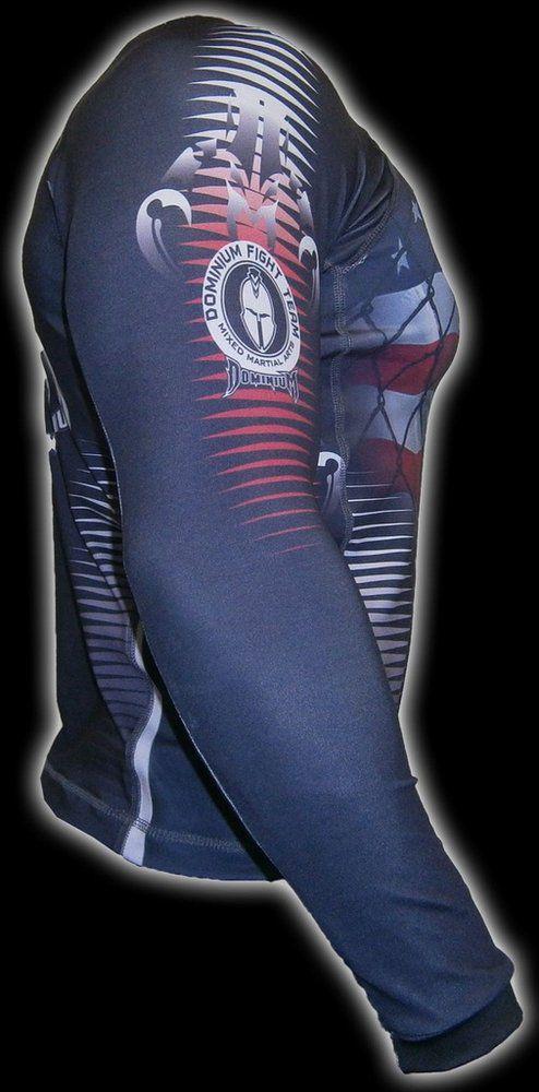 Camisa Rash Guard - Manga Longa - Preto- 2201P- Dominium .  - Loja do Competidor