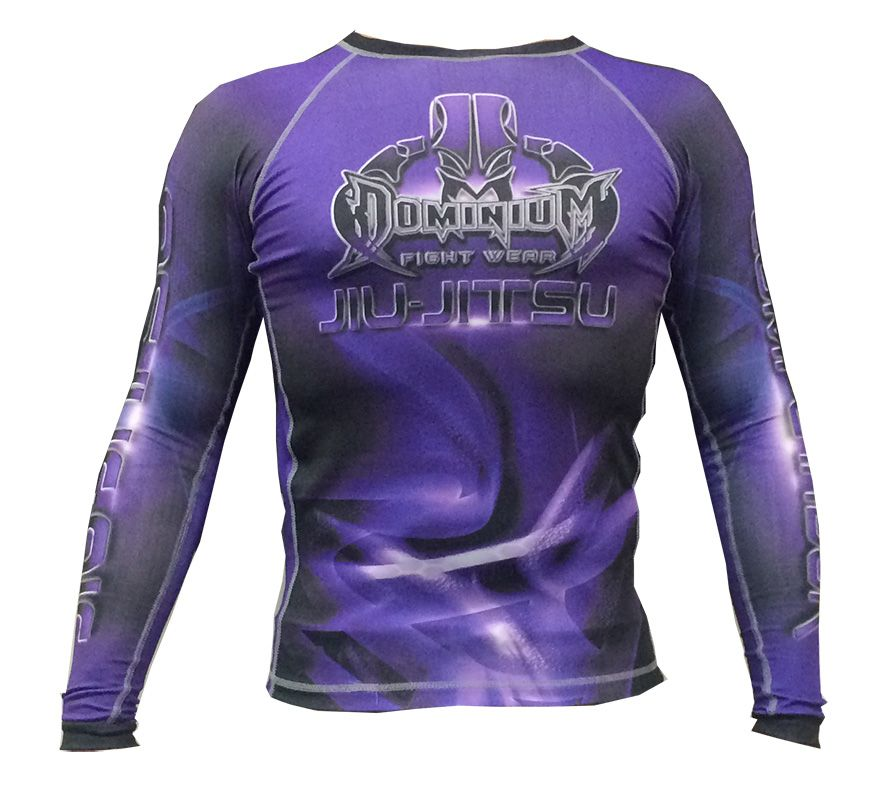 Camisa Rash Guard - Manga Longa - Roxa - 2737 - Dominium -