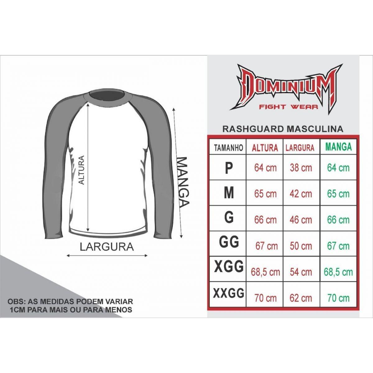 Camisa Rash Guard - Manga Longa - Roxa - 2737 - Dominium -  - Loja do Competidor