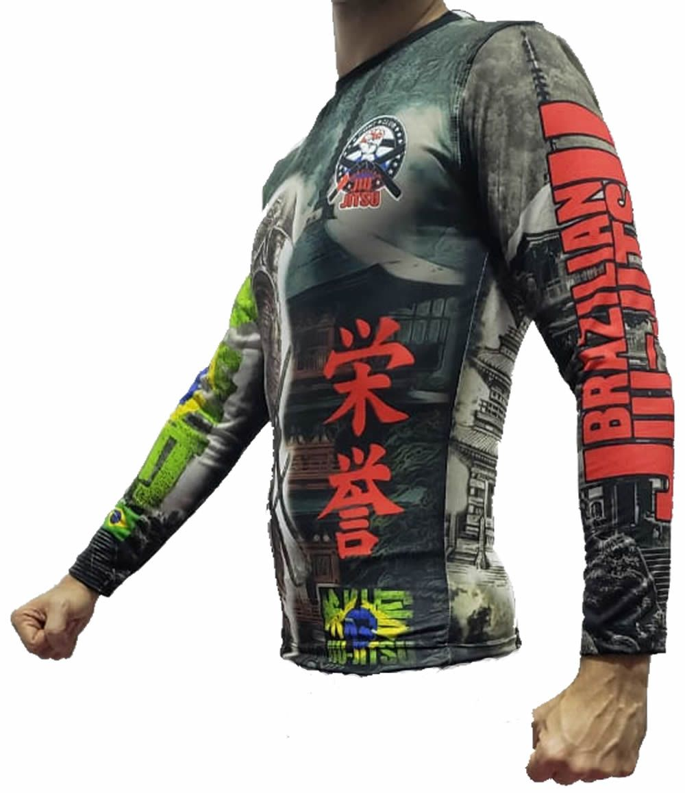 Camisa Rash Guard Manga Longa - Tokyo - John Brazil  - Loja do Competidor
