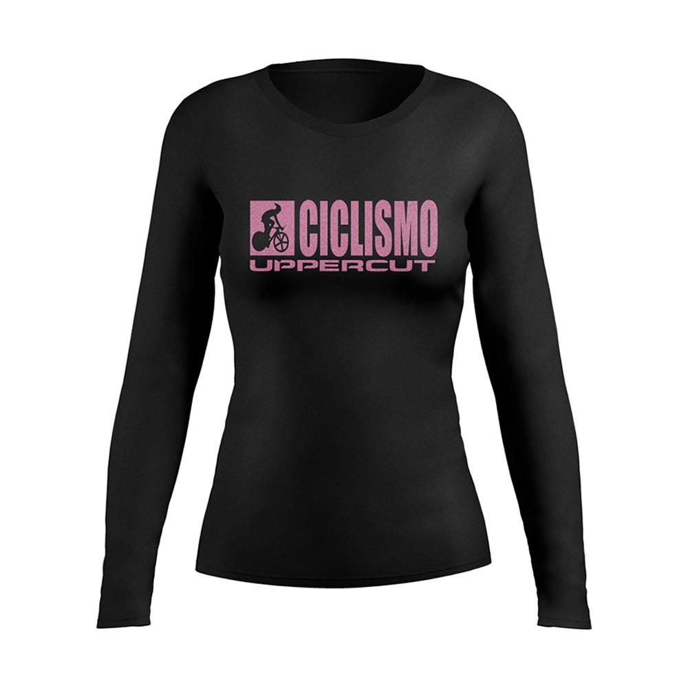 Camiseta Ciclismo Dry Fit UV-50+ - Manga Longa - Feminina