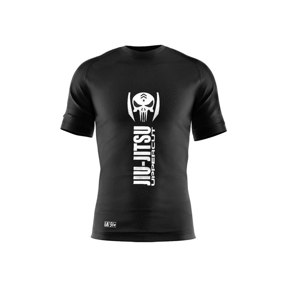 Camiseta Jiu Jitsu VTC Caveira War Dry Fit UV-50+ - Preta