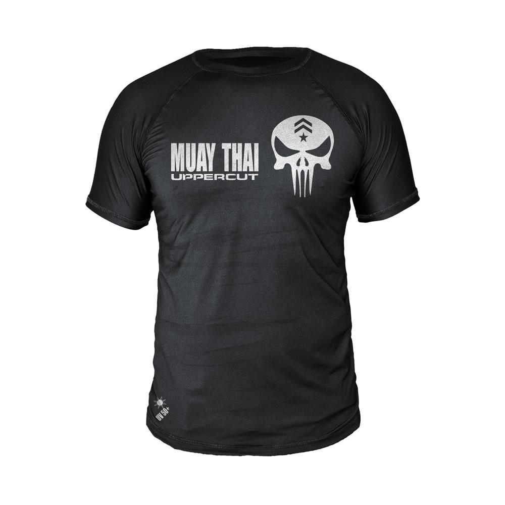 Camiseta Muay Thai Caveira Justiceiro Dry Fit UV - Uppercut