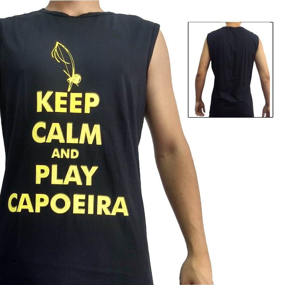 Camiseta Regata Artes Marciais - Play Capoeira - Preto - John Brazil