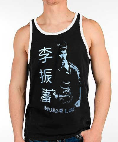 Camiseta/Regata - Bruce Lee - Preto/Branco - Toriuk .