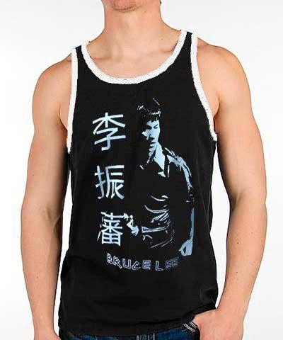 Camiseta Regata - Bruce Lee - Preto/Branco - Toriuk